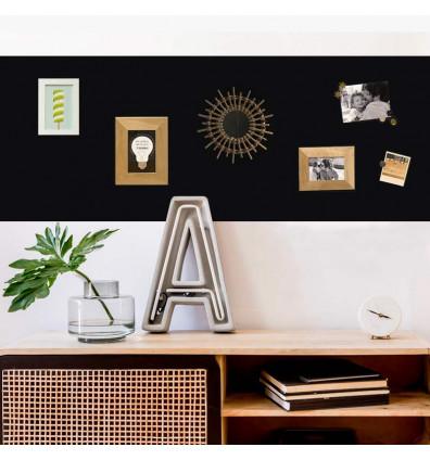 kit papier peint adhésif repositionnable tableau noir - 2m
