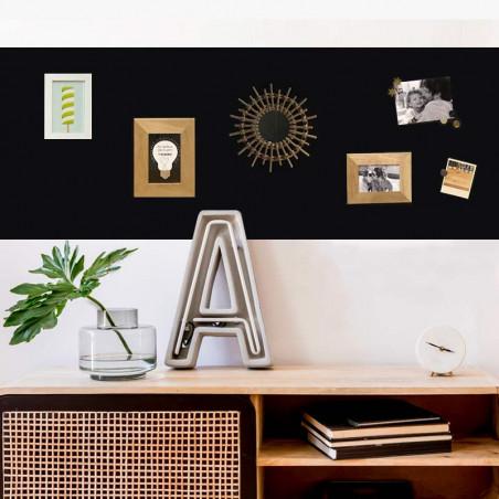 kit papier peint magnétique Ferflex® noir repositionnable 2mx60cm