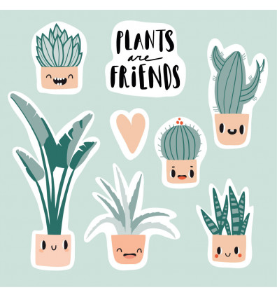 Aimants - Magnets en forme de plantes - lot de 07 pièces