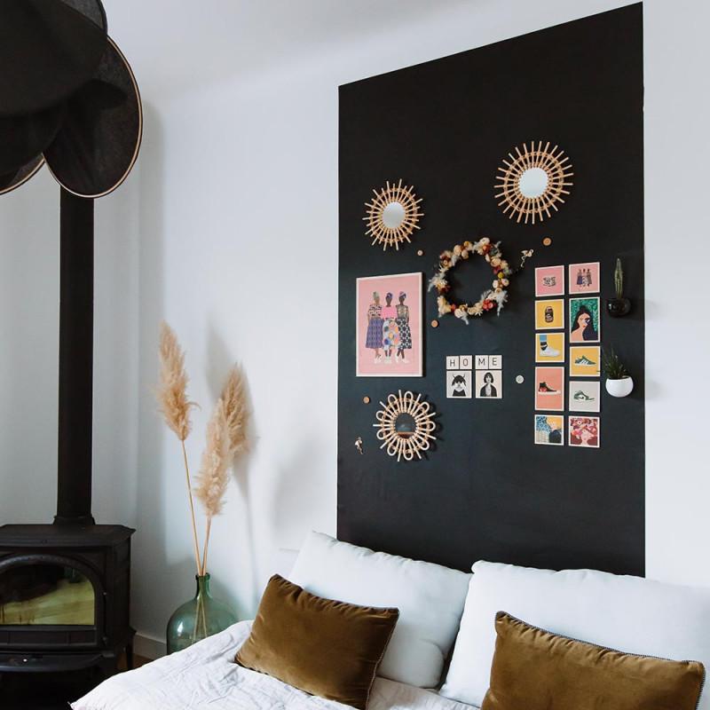 papier peint adhésif repositionnable tableau noir - 2m60