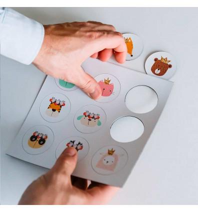 Formes animaux colorés aimantées - lot de 09 pièces