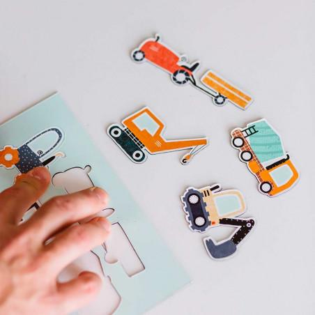 Magnets camions colorés - lot de 08 pièces