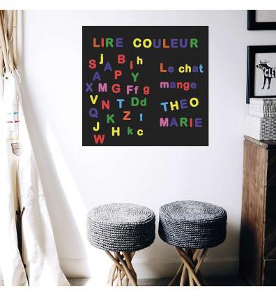 lettres magnétiques multicolores - lot de 125 magnets