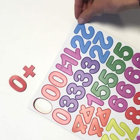 aimant chiffres colorés