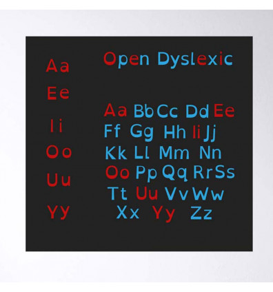 alphabet dyslexique - lot de 129 magnets