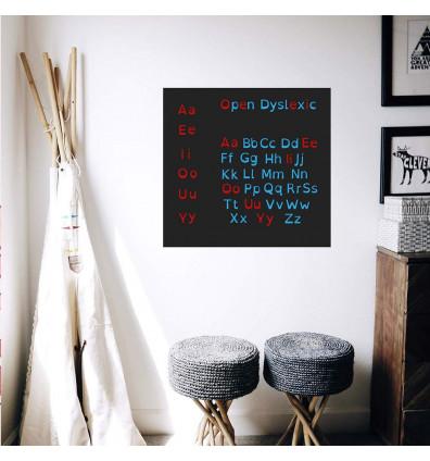 Formes aimantées – alphabet dyslexique - lot de 129 magnets