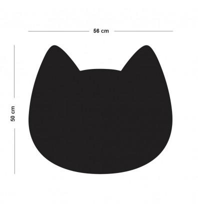 Tableau magnétique mural en forme de tête de chat