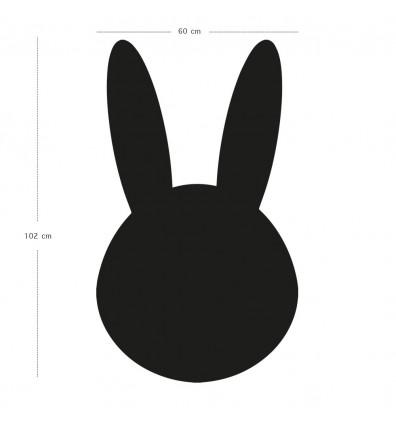 Tableau magnétique mural en forme de tête de lapin