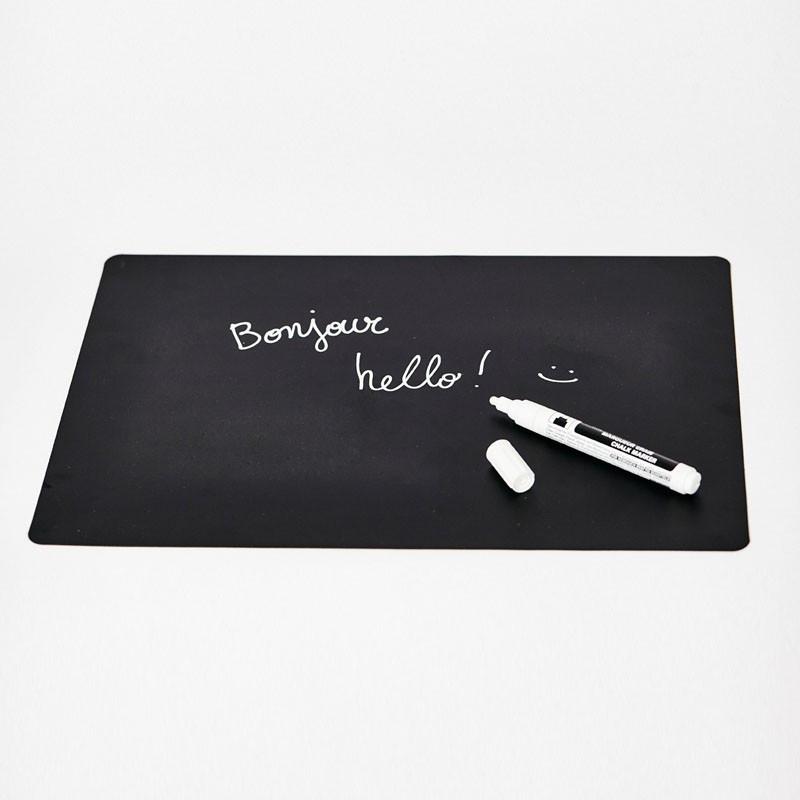 Mémo aimanté noir - 1 pièce - Format 29x40cm