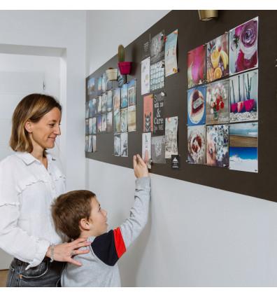 papier peint magnétique autocollant noir - espace affichage mur bureau