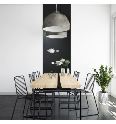 papier peint adhésif repositionnable tableau magnétique salon - 2m