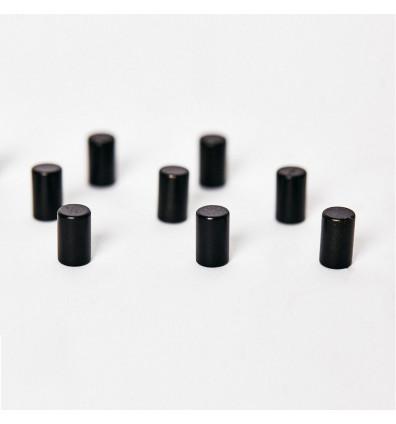 Aimant diamètre 6x10mm couleur Noir - Lot de 12 pièces