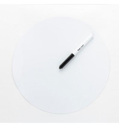 ardoise ronde souple magnétique - blanche