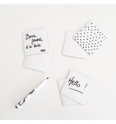 Notes aimantées lot de 12
