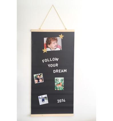Kit porte affiche papier peint magnétique Ferflex® noir 1mx50cm