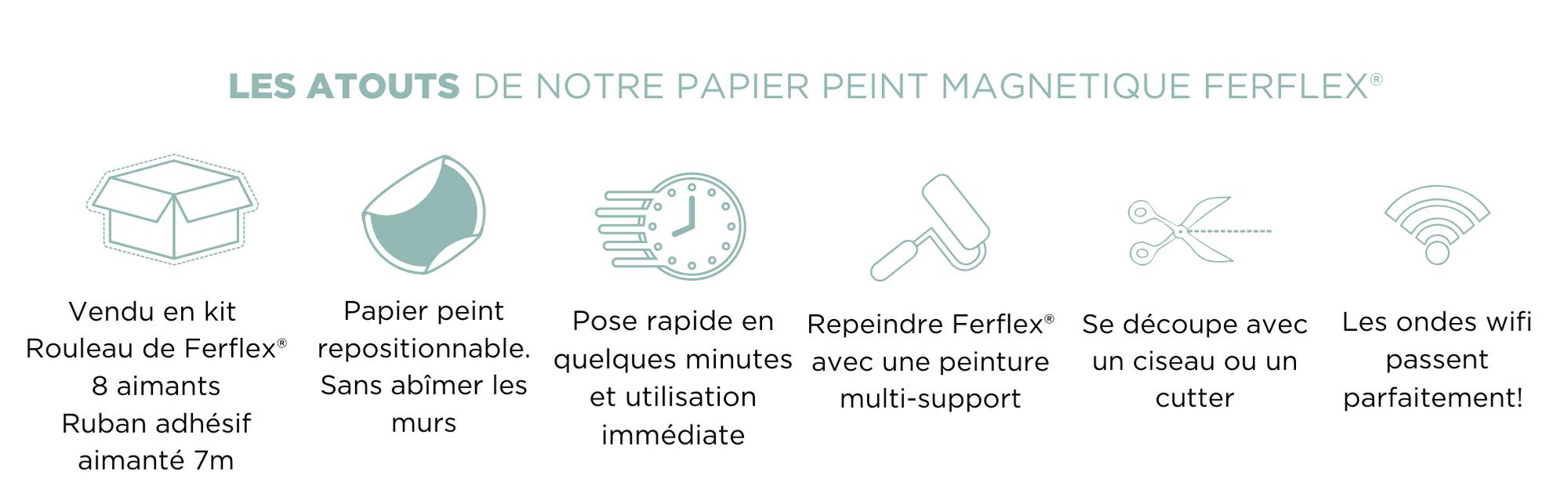avantages du papier peint magnétique avec adhésif repositionnable