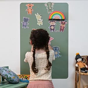 tableaux magnétiques colorés
