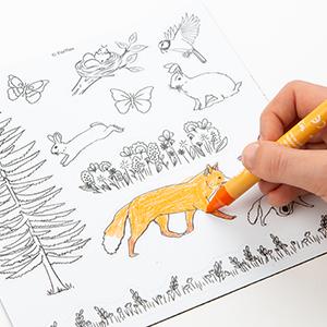 magnets à colorier pour les enfants sur le thème de l'espace